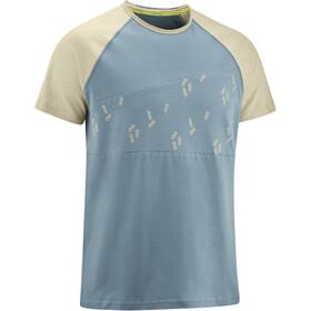 Edelrid Greenclimb Camiseta Hombre, azul/beige